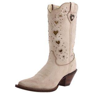 DURANGO CRUSH Heart Cut Out Boots 9 Western Tan